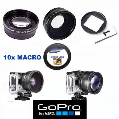 GOPRO HERO 6 ULTRA WIDE ANGLE LENS+TELEPHOTO ZOOM LENS + 10X MACRO LENS ADAPTOR