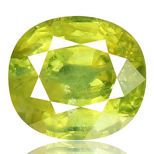 Tsavorite Family Garnet 3.28ct yellowish green color 100% natural earth mined