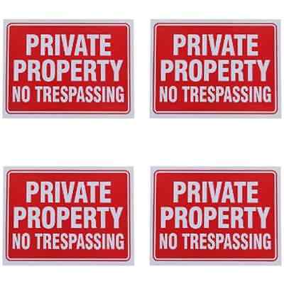 Private Property No Trespassing Sign 9 X 12 Inch   4 Pack