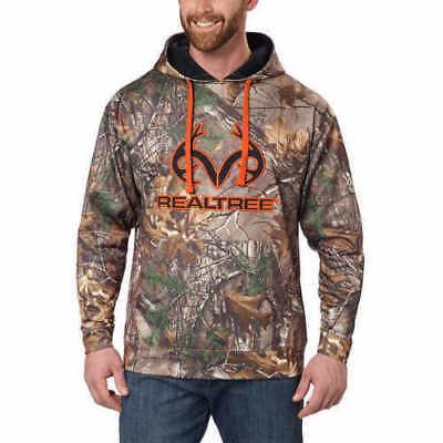 Realtree Camo Tubing CVC Applique Fleece Top Pullover , Size:Large