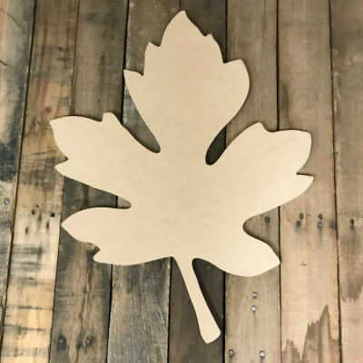 Wooden Oak Leaf Cutout, DIY, Fall Shape, Wall Art Shape, Paintable Craft