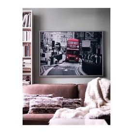 Huge Ikea Vishult London Red Bus Framed Print