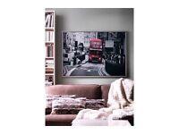 Huge Ikea Vishult London Red Bus Framed Print
