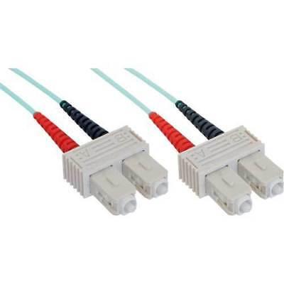 InLine® LWL Duplex Kabel, SC/SC 50/125µm, OM3, 1m
