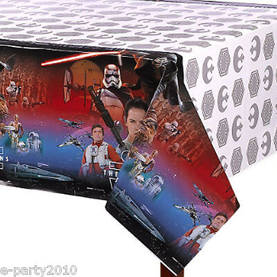 STAR WARS Force Awakens PLASTIC TABLE COVER ~ Birthday Party Supplies Decoration](Star Wars Table Decorations)