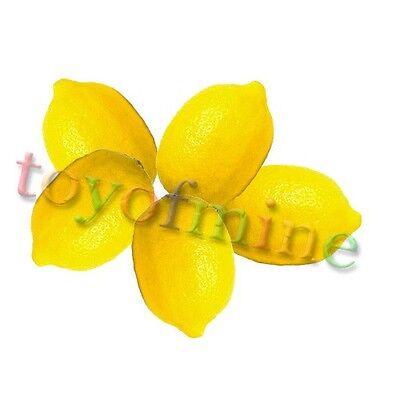 5 Pcs Lemon Artificial Fruit Fake Theater Prop Staging Home Decor Faux Lemons