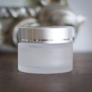 50 ml frosted glass jars