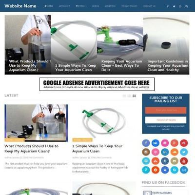 Aquarium Store - Work From Home Online Business Website For Sale Hosting