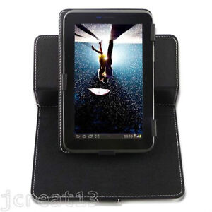 "Rotary Leather Case For 8"" Hipstreet Flash Android Tablet TY3"