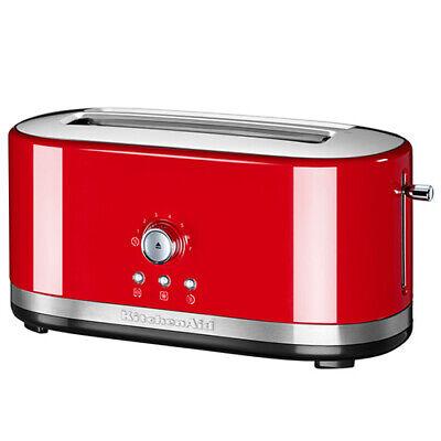 KitchenAid Empire Red Manual Control Long Slot Toaster