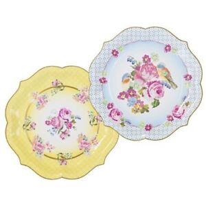 Floral Serving Paper Platters, Tea Party