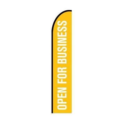Open For Business Feather Flag Banner Advertising Display Sign Flag Only