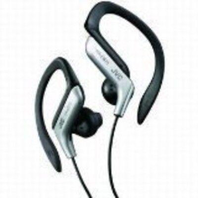 JVC Haeb75S Sport Clip Headphone [New Headphone] Silver, Earbuds, (Jvc Silver Headphone)