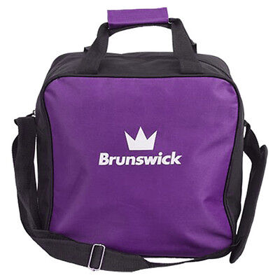 Brunswick TZone Single Tote 1 Ball Bowling Bag Purple