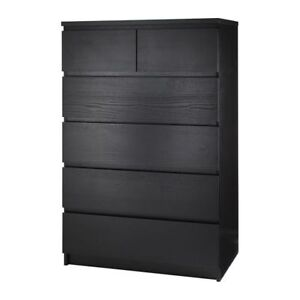 MALM 6 drawers black/brown (I'm trading) vs WHITE (I'm looking)
