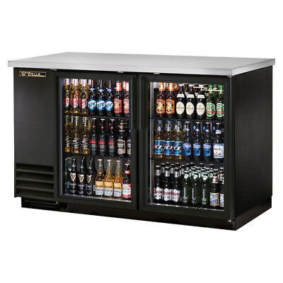 True Tbb-2g Back Bar Cooler 2 Glass Door Wled Lighting 59w Black