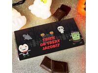 Personalised Halloween milk chocolate bar