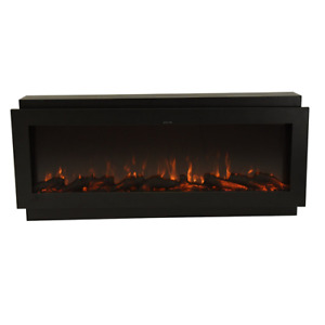 "50"" 1500 BTU Built-In Electric Multi-Colour LED Fireplace * Logs"