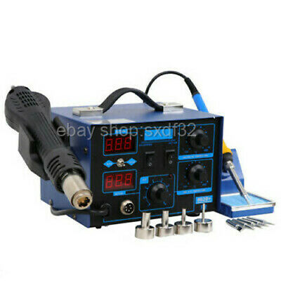 2in1 Iron Hot Air Rework Station 862d Smd Soldering Hot Air Gun Digital Display