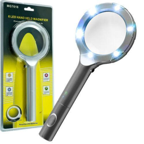 lighted reading magnifying glass ebay. Black Bedroom Furniture Sets. Home Design Ideas