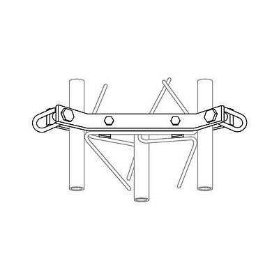 ROHN GA25GD Down Guy Bracket Assembly with Hardware for ROHN 25G Tower. Buy it now for 188.87