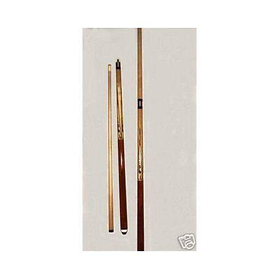 Pool Billard Queue 2-tlg. aus Holz,  2 Stück + 6 Lederspitzen