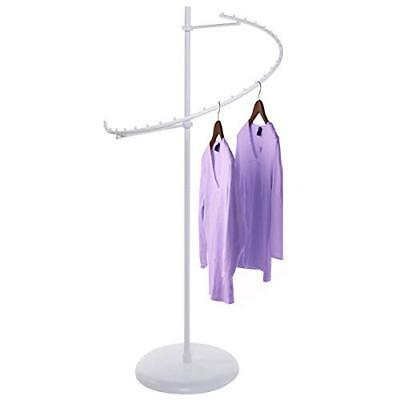 Only Hangers Textured Matte White 29-ball Spiral Clothing Rack
