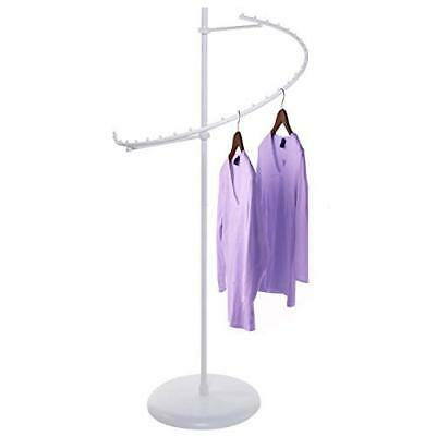 Used Only Hangers Textured Matte White 29-ball Spiral Clothing Rack