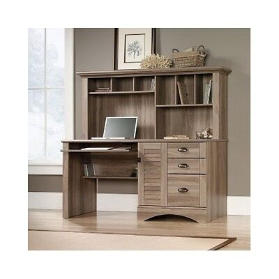 Computer Desk with Hutch Wood Modern Home Office Furniture  Workstation Drawers