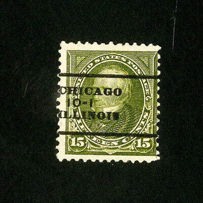 US Stamps # 284 Fresh Used Chicago IL Pre-Cancel