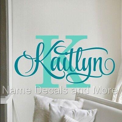 Girls Name Wall Decal Baby Girl Nursery Name Decal Wall Decor Bedroom Decoration