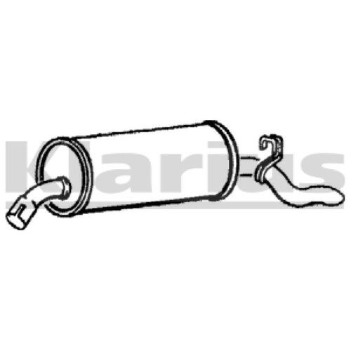 1x KLARIUS OE Quality Replacement Rear / End Silencer Exhaust For VAUXHALL