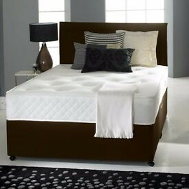 NEW MEMORY FOAM DIVAN BED SET + MATTRESS + HEADBOARD SIZE 3FT 4FT6 Double