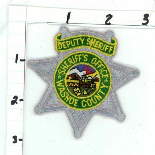 NEVADA NV WASHOE COUNTY SHERIFF DEPUTY NEW PATCH POLICE