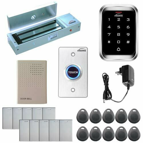 Visionis FPC-5100 One Door Access Control Outswing 1200lbs Maglock and Keypad