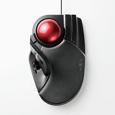 ELECOM trackball mouse Wired 8 button Big ball M-HT1URBK from JAPAN