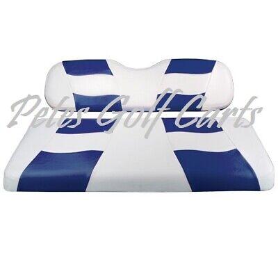 Golf Cart Custom Seat Covers BLUE/WHITE Club Car EZGO Yamaha  Club Car Golf Cart Seat Covers