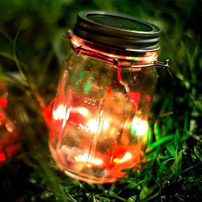 multi color outdoor solar jar design. LED Color Changing Fairy Light Solar Mason Jar Garden Decor Lights Lamp Multi Outdoor Design