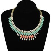 Wide Gold Collar Necklace
