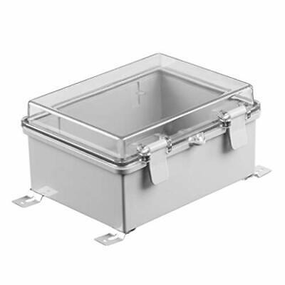 Gratury Junction Box Hinged Cover Transparent Lid IP65 Waterproof Plastic Enc...