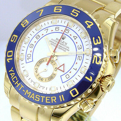ROLEX YACHTMASTER ll 116688 18K YELLOW GOLD WHITE DIAL