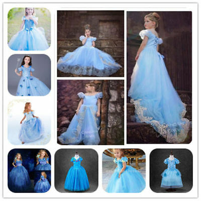 Kostüm Kinder Cosplay Mädchen Fancy Sandy Prinzessin Cinderella Party Kleider