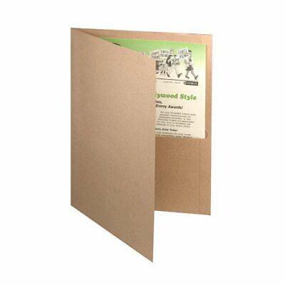Earthwise Oxford 100 Recycled Paper Twin Pocket Folders - Letter - 8.50 X 11