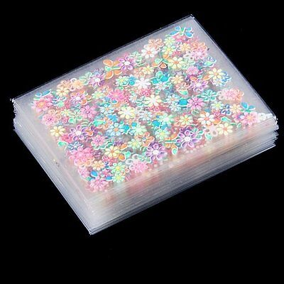 50 Sheets Colorful Nail Art 3D Stickers Design Manicure Decal Decorations Hot for sale  Shipping to Canada