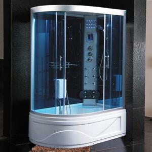 Cabina idromassaggio 130x85 box doccia vasca sauna bagno turco cromoterapia full ebay - Sauna bagno turco ...