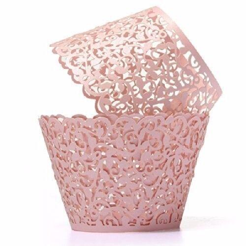 60x artistic bake cupcake liners filigree little
