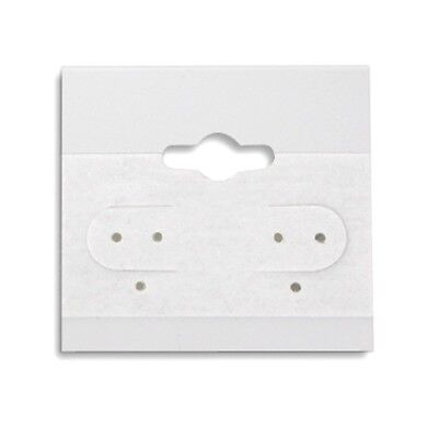 2000 White Hanging Earring Display Cards 1 12h X 1 12w With Lip