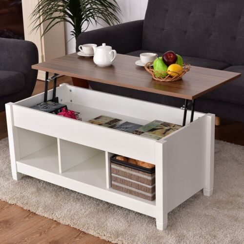 Details About Home Room Lift Top Coffee Table With Hidden Storage Compartment Furniture Us