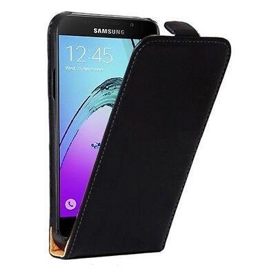 Samsung Galaxy A5 2016 A510 - Housse Etui de protection à Clapet - Noir - Phonit
