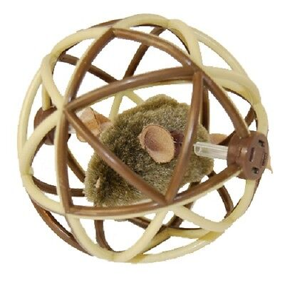 BALL OF FURY CAT TOY by Play N' Squeak - REAL MOUSE SOUND!   MADE IN THE USA!!